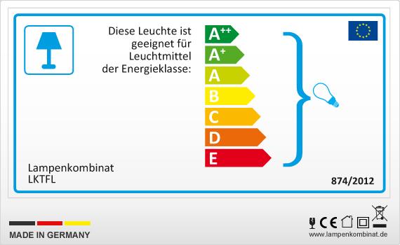 EU-Energielabel Lampenkombinat
