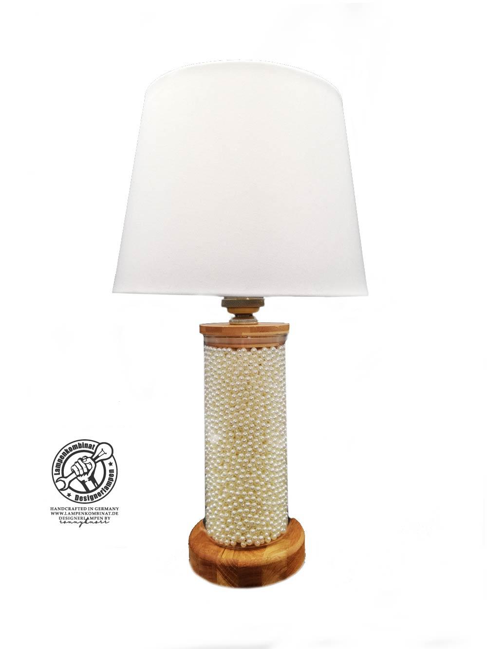 Lampe mit Dekoperlen