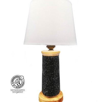Lampe mit Steinfüllung