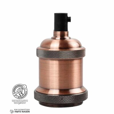 Kaschierhülse (E27, bronze rosé, metall)