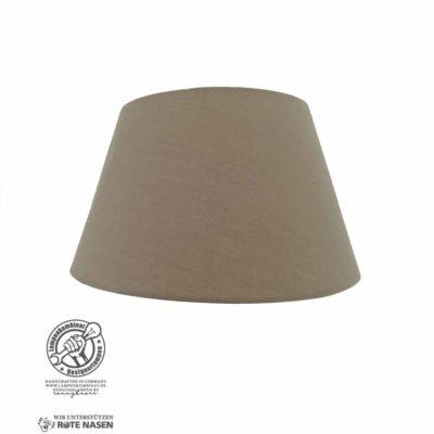 Lampenschirm mit braunem Stoffbezug