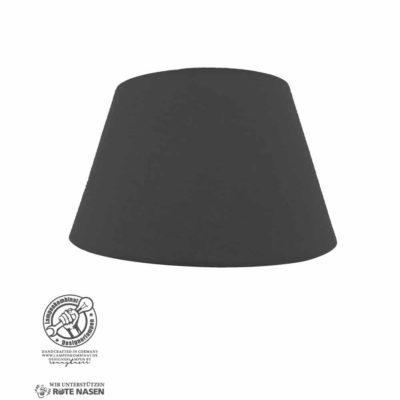 Lampenschirm mit schwarzem Stoffbezug